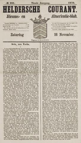 Heldersche Courant 1870-11-26