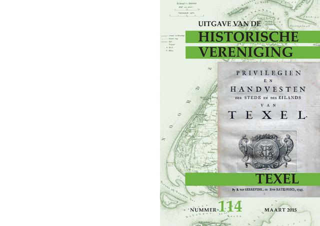 Uitgave Historische Vereniging Texel 2015-03-01