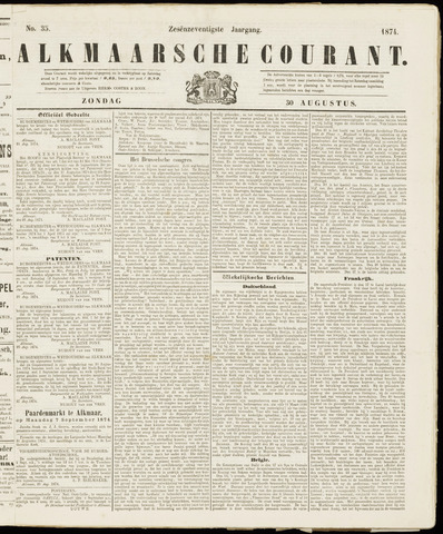 Alkmaarsche Courant 1874-08-30