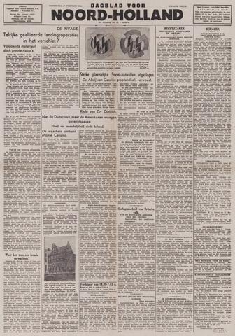 Dagblad Noord-Holland, Schager editie 1944-02-17