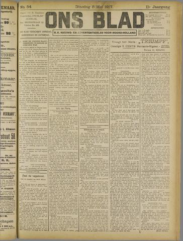 Ons Blad : katholiek nieuwsblad voor N-H 1917-05-08