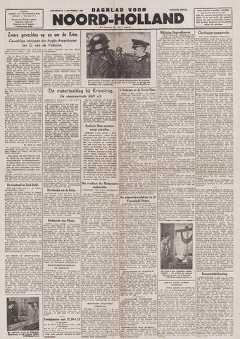 Dagblad Noord-Holland, Schager editie 1943-11-04