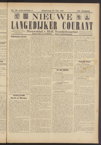 Nieuwe Langedijker Courant 1927-07-28