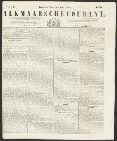 Alkmaarsche Courant 1869-11-07