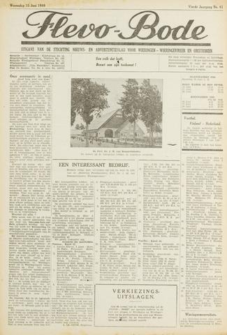 Flevo-bode: nieuwsblad voor Wieringen-Wieringermeer 1949-06-15