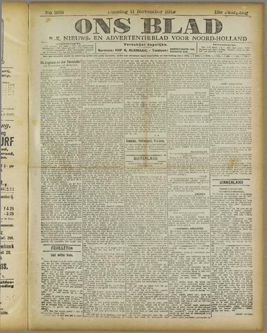 Ons Blad : katholiek nieuwsblad voor N-H 1919-11-11