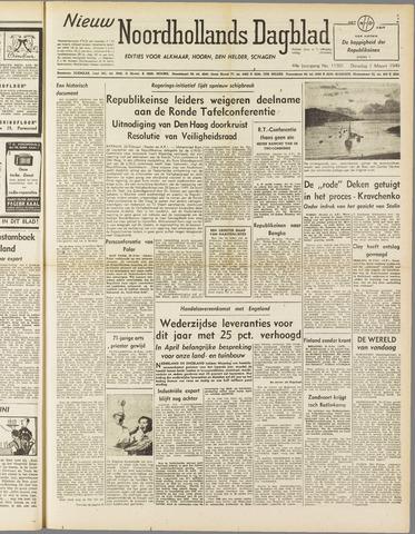 Nieuw Noordhollandsch Dagblad : voor Alkmaar en omgeving 1949-03-01
