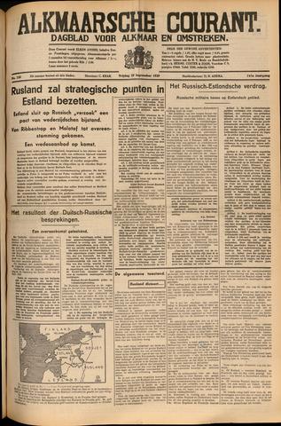 Alkmaarsche Courant 1939-09-29