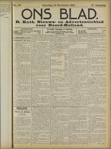 Ons Blad : katholiek nieuwsblad voor N-H 1910-11-19