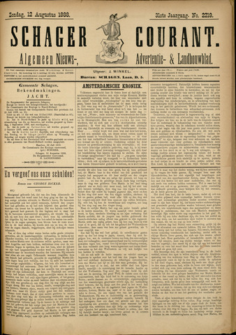 Schager Courant 1888-08-12