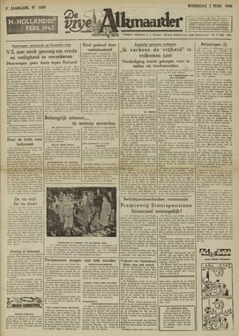 De Vrije Alkmaarder 1949-02-02