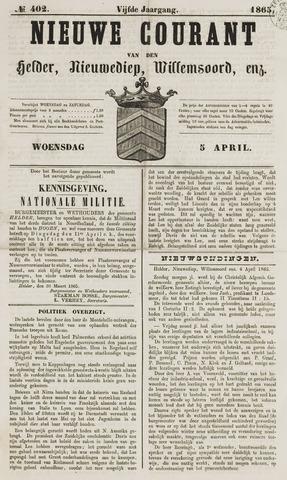 Nieuwe Courant van Den Helder 1865-04-05