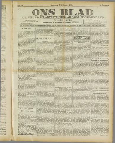 Ons Blad : katholiek nieuwsblad voor N-H 1920-02-28