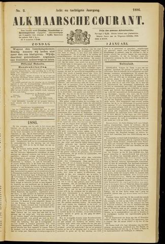Alkmaarsche Courant 1886-01-03