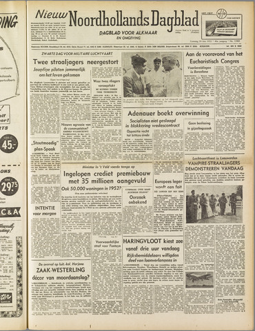Nieuw Noordhollandsch Dagblad : voor Alkmaar en omgeving 1952-05-24