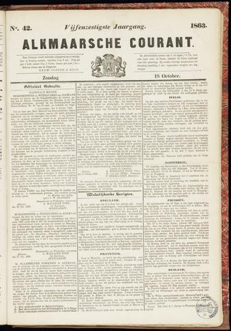 Alkmaarsche Courant 1863-10-18