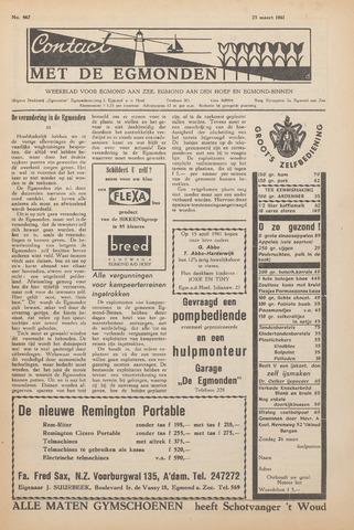 Contact met de Egmonden 1961-03-23