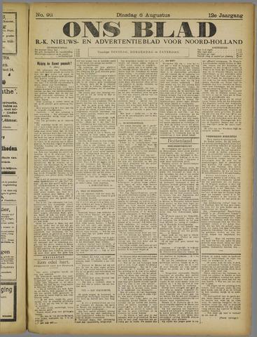 Ons Blad : katholiek nieuwsblad voor N-H 1918-08-06