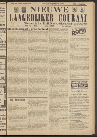 Nieuwe Langedijker Courant 1929-09-03