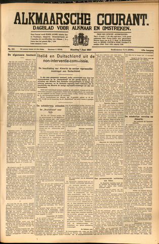 Alkmaarsche Courant 1937-06-01