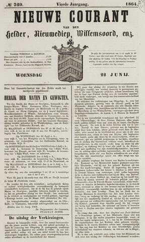 Nieuwe Courant van Den Helder 1864-06-22
