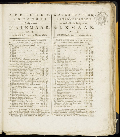 Alkmaarsche Courant 1813-03-31