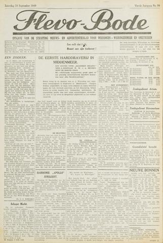 Flevo-bode: nieuwsblad voor Wieringen-Wieringermeer 1949-09-24