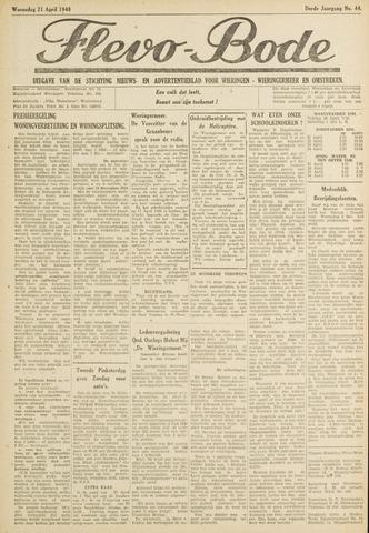 Flevo-bode: nieuwsblad voor Wieringen-Wieringermeer 1948-04-21
