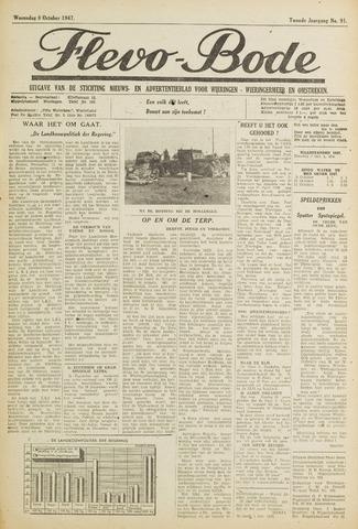 Flevo-bode: nieuwsblad voor Wieringen-Wieringermeer 1947-10-08