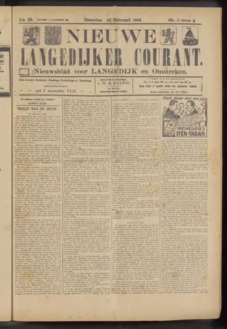 Nieuwe Langedijker Courant 1924-02-23