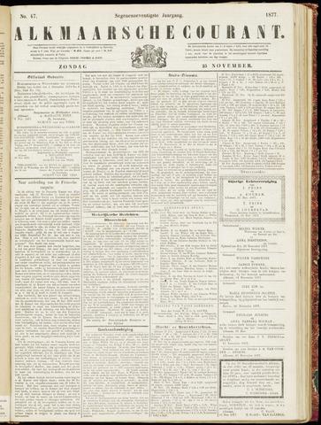 Alkmaarsche Courant 1877-11-25
