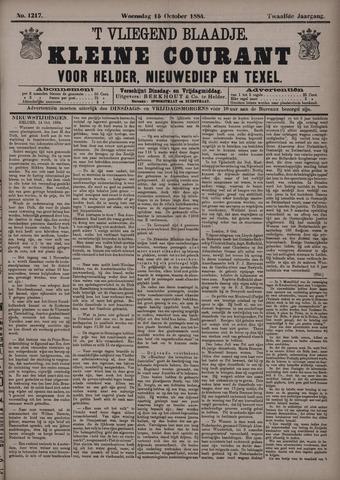 Vliegend blaadje : nieuws- en advertentiebode voor Den Helder 1884-10-15