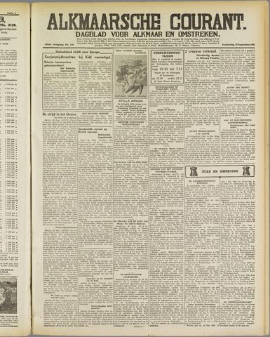 Alkmaarsche Courant 1941-09-25