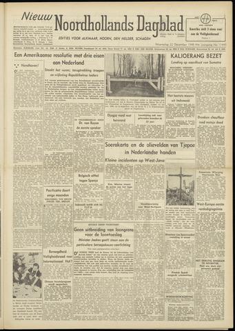 Nieuw Noordhollandsch Dagblad : voor Alkmaar en omgeving 1948-12-22