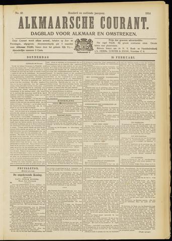 Alkmaarsche Courant 1914-02-26