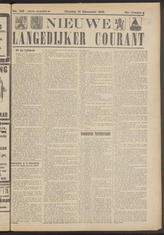Nieuwe Langedijker Courant 1925-12-15