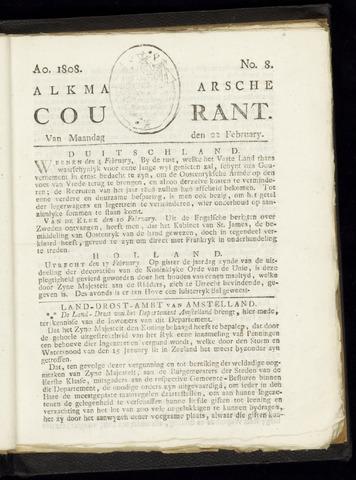 Alkmaarsche Courant 1808-02-22