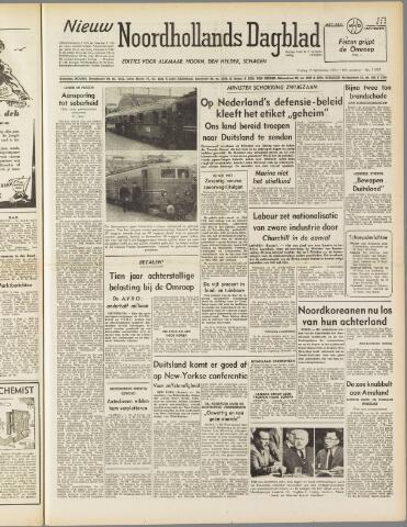 Nieuw Noordhollandsch Dagblad : voor Alkmaar en omgeving 1950-09-15