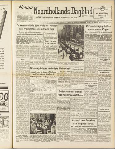 Nieuw Noordhollandsch Dagblad : voor Alkmaar en omgeving 1949-04-08