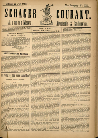 Schager Courant 1888-07-22