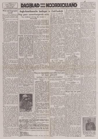 Dagblad Noord-Holland, Schager editie 1944-08-16