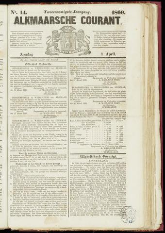 Alkmaarsche Courant 1860-04-01
