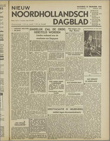 Nieuw Noordhollandsch Dagblad : voor Alkmaar en omgeving 1945-12-10