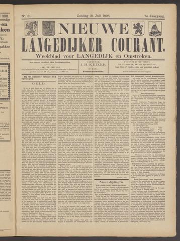 Nieuwe Langedijker Courant 1898-07-31