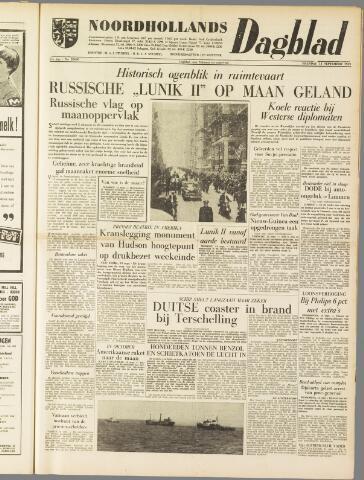 Noordhollands Dagblad : dagblad voor Alkmaar en omgeving 1959-09-14