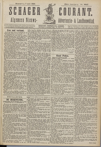 Schager Courant 1920-07-07