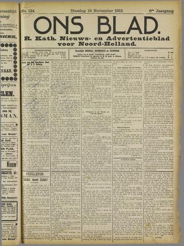 Ons Blad : katholiek nieuwsblad voor N-H 1912-11-19