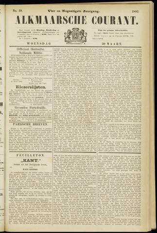 Alkmaarsche Courant 1892-03-30