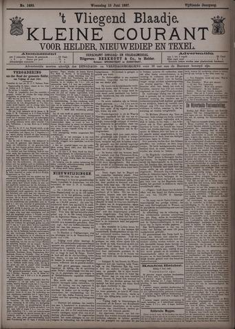 Vliegend blaadje : nieuws- en advertentiebode voor Den Helder 1887-06-15