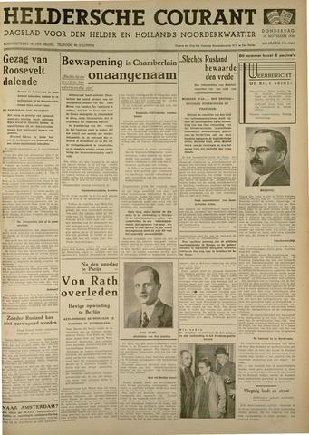 Heldersche Courant 1938-11-10